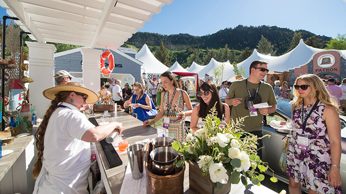 food and wine Aspen